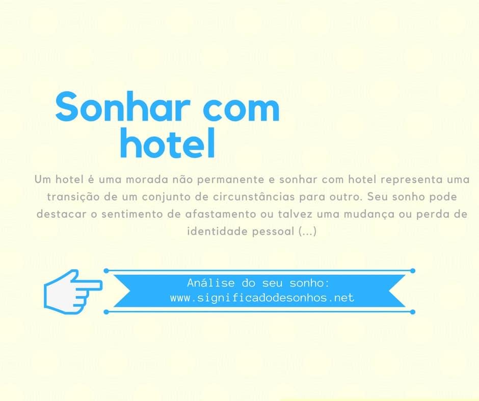 significado sonhar com hotel