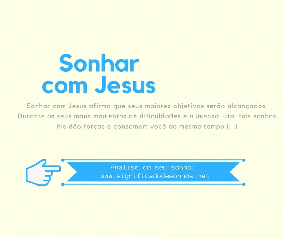 significado sonhar com jesus