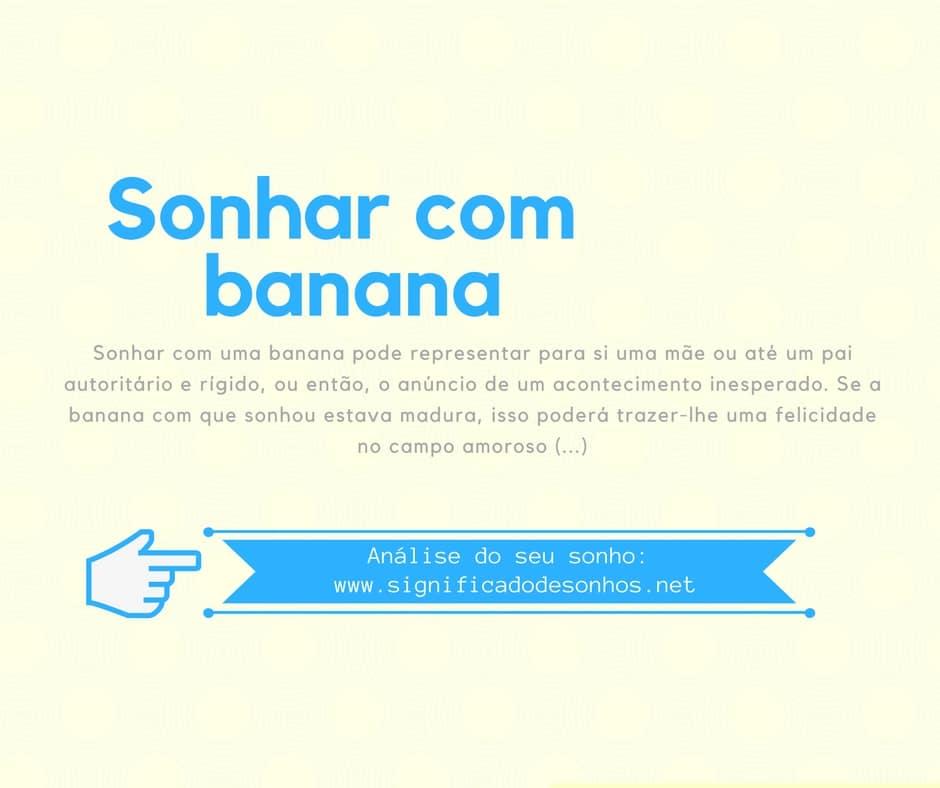 significado sonhar com banana