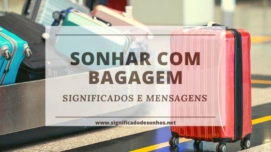 sonhos com bagagem