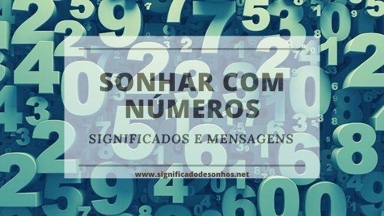 Saiba quais os significados de sonhar com números